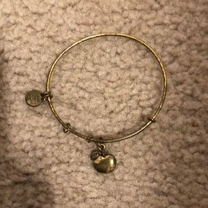 Gold Apple Alex and Ani Bracelet